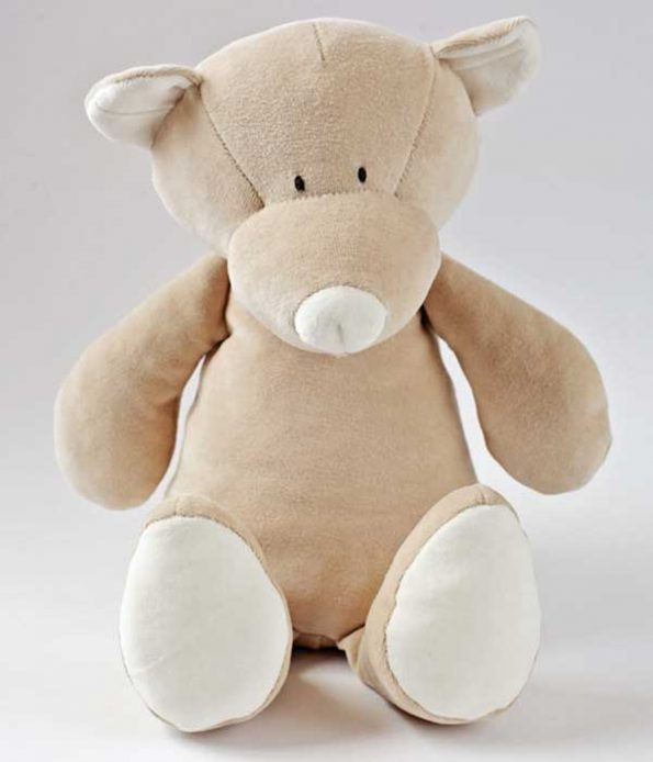 Organic teddy soft toy