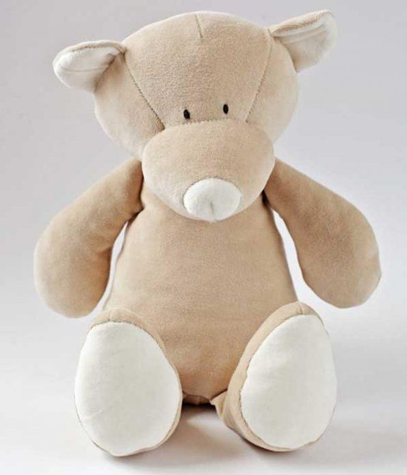 Organic teddy soft toy