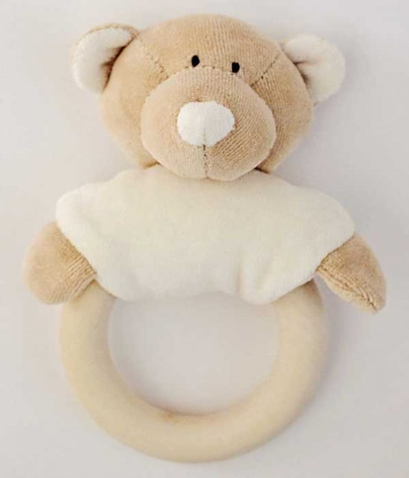 Organic Teddy Bear Rattle