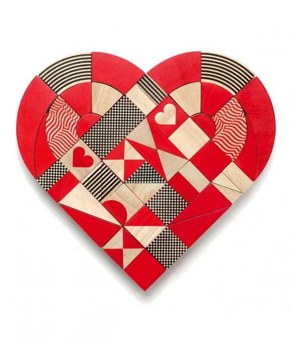 Heart shaped toy made of wood