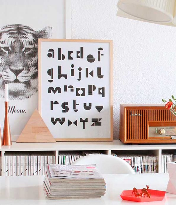 Recycled paper poster for kids
