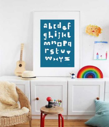 ABC for children wall poster