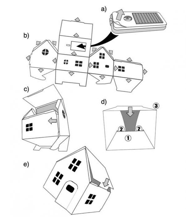 Flat pack house toy instructions