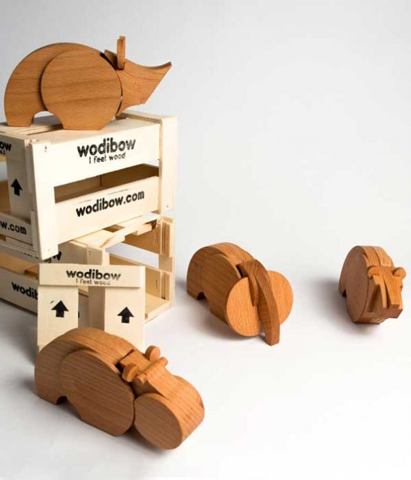 Jungle animal toys in wood