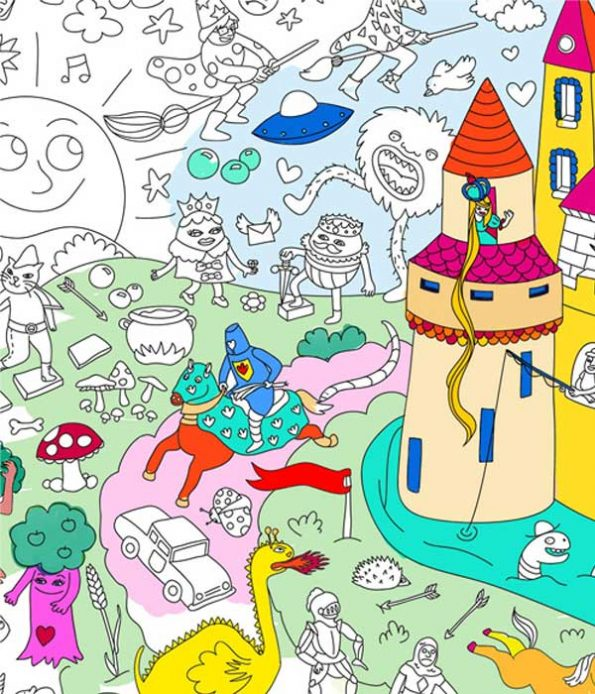 Magic painting and colouring poster