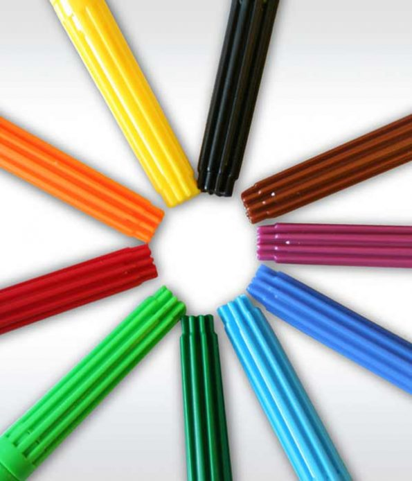 Water based colors washable felt pens