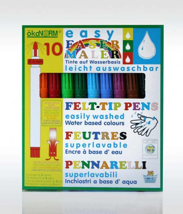 Washable felt pens