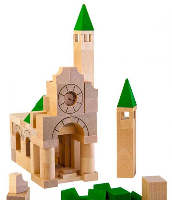 Building set in wood