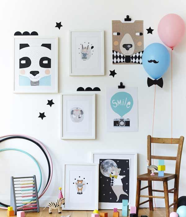 Childrens room decoration elements