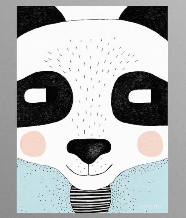 Panda poster for kids