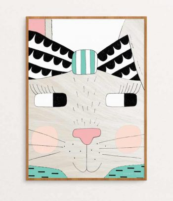 Rabbit Print Room Decoration