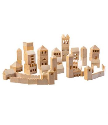 Wooden Town Building Set
