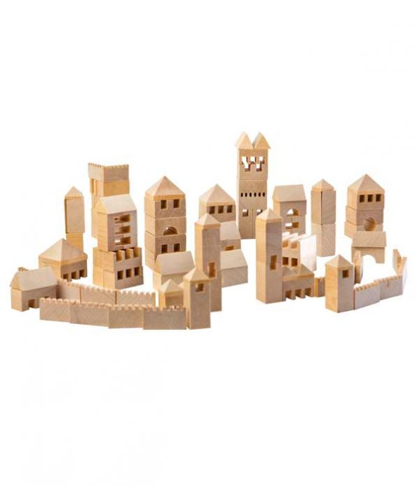 Wooden Town Building Set
