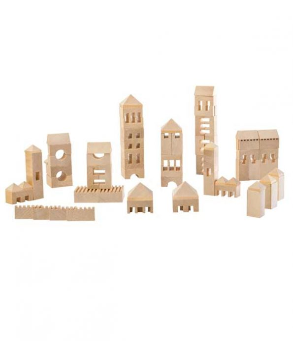 Wooden city model toy