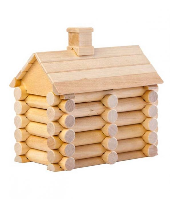 Wooden house building set