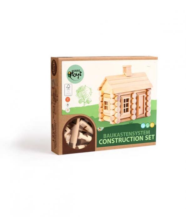 Wooden house building toy