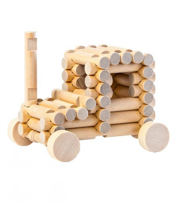 Wooden car building kit