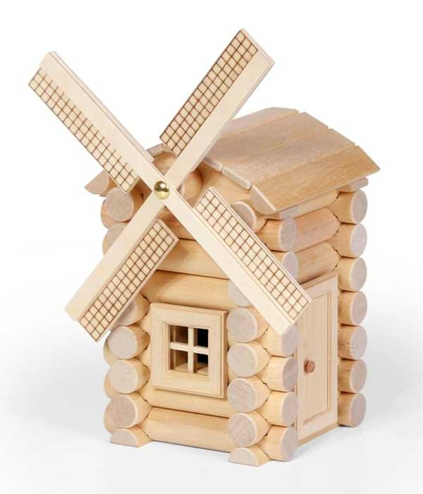 Wooden Windmill Toy