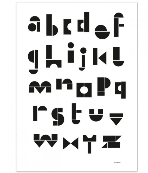 Alphabet poster for kids