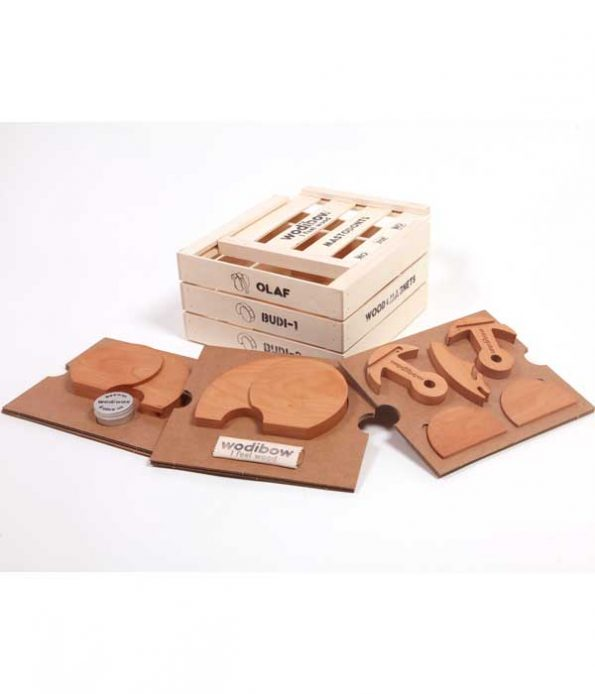 Mastodont wooden toy components