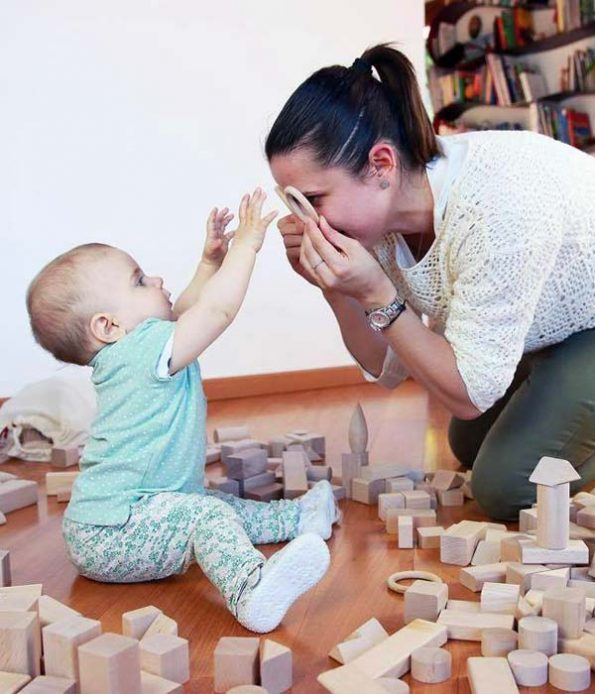 Safe wooden toys for small children