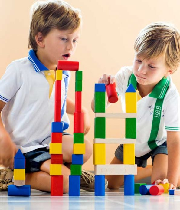Non toxic toys made from wooden blocks