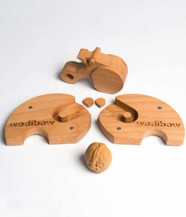 Toys made with wooden pieces