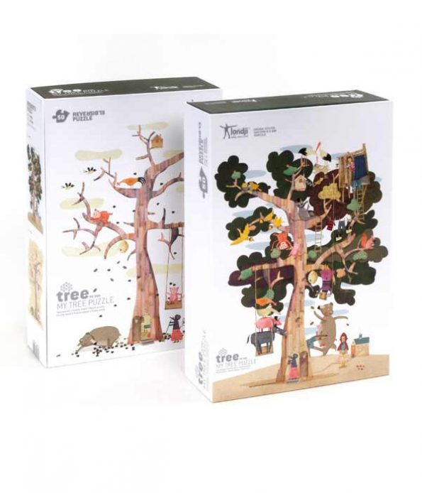 Reversible puzzles for children