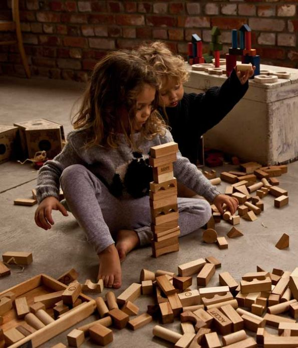 Build and play with blocks for children