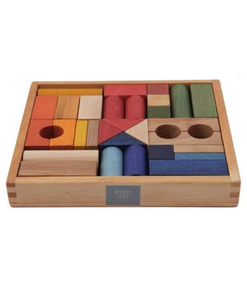 Rainbow wooden blocks