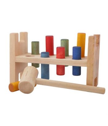 Pound a peg wooden toy