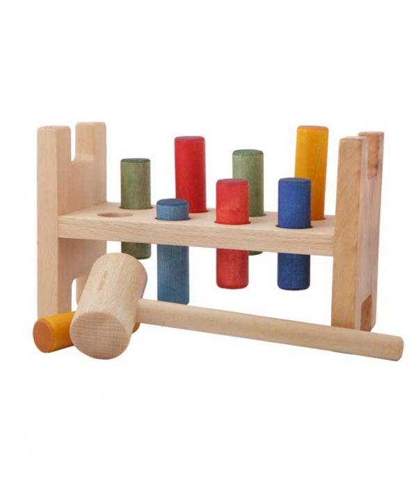 Pound a peg wooden toy