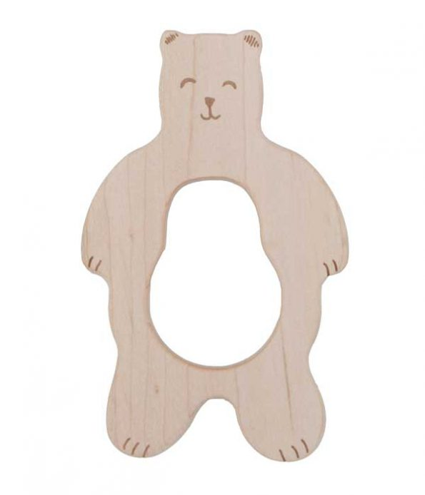 Wooden teether toy